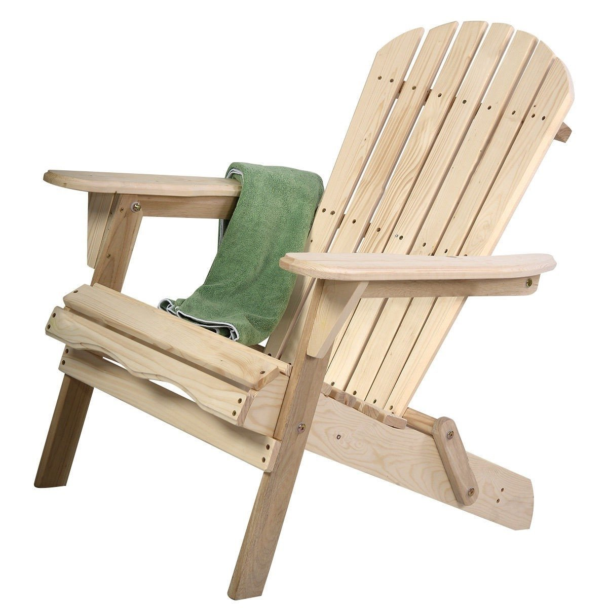 Brilliant Unfinished Wood Folding Adirondack Chair Outdoor Garden Patio Gamerscity Chair Design For Home Gamerscityorg