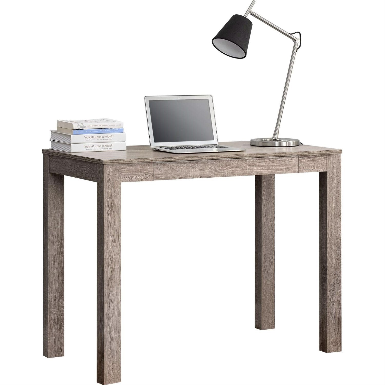 Modern Classic Home Office Laptop Desk in Medium Oak Finish