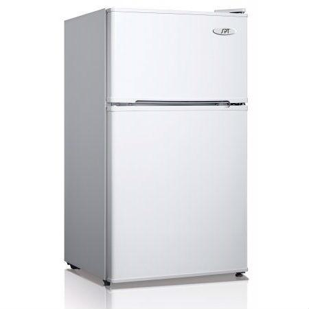 3.1 Cubic Foot Refrigerator with Top-Mount Freezer in White