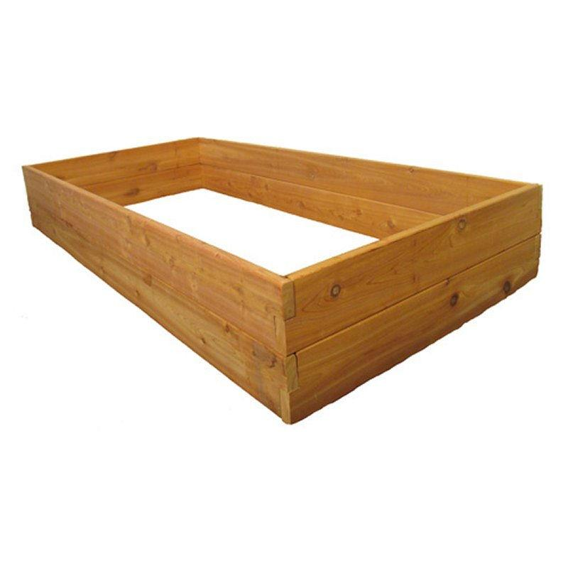 Western Red Cedar Wood 3-Ft x 6-Ft Raised Garden Bed Planter Kit - Made in USA