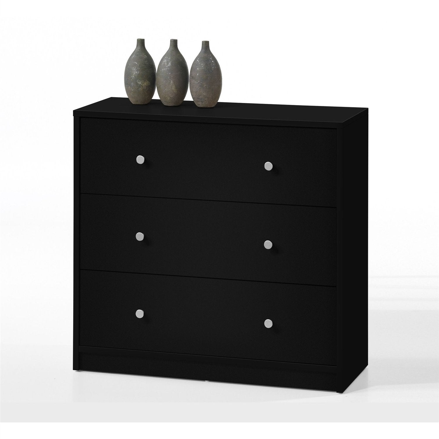 Contemporary 3-Drawer Chest in Black - Made in Denmark