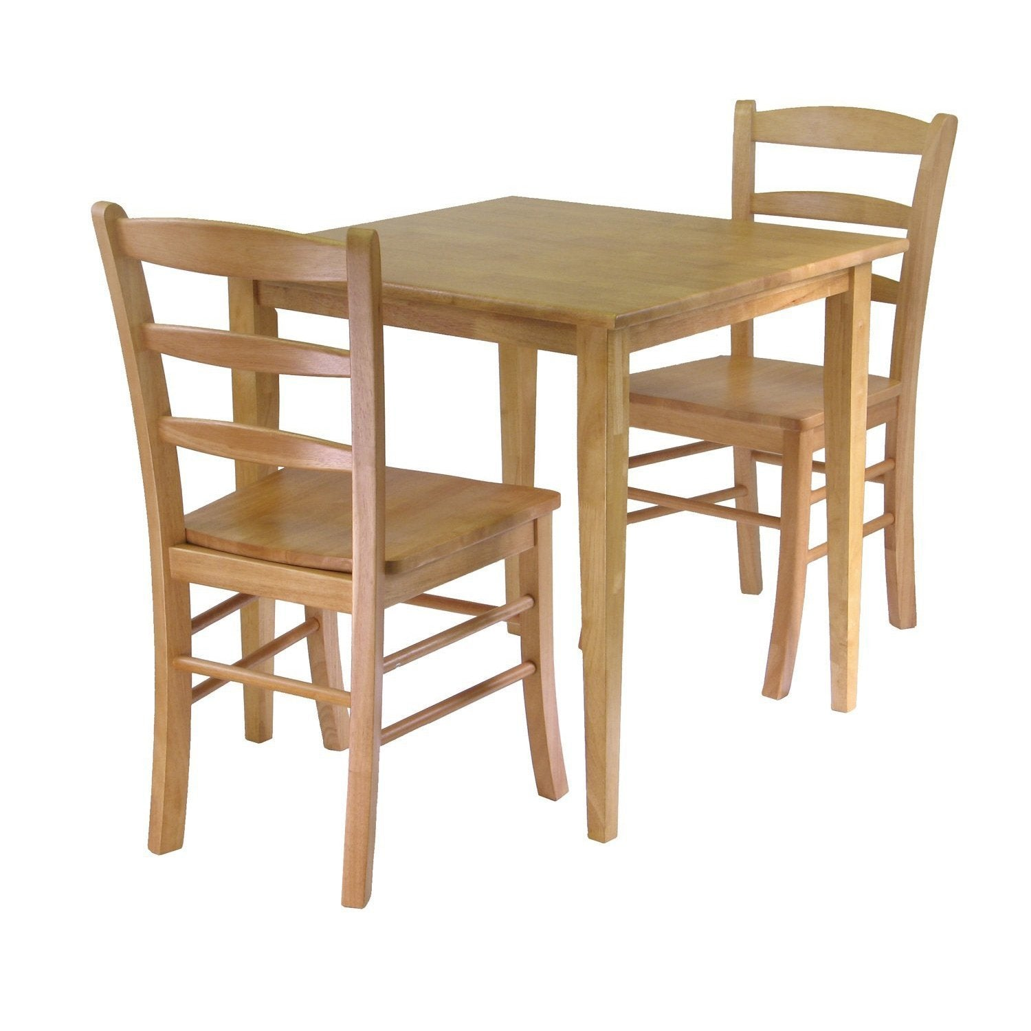 3 Piece Wood Dining Set in Light Oak Finish
