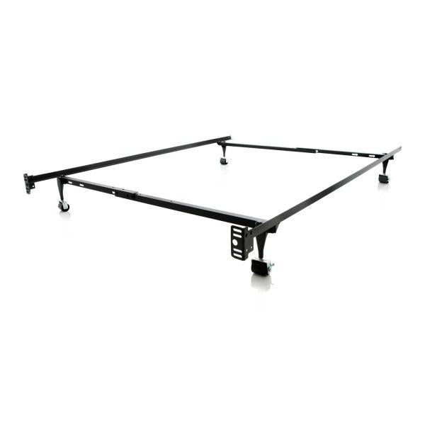 Twin / Full Bed Frame with Rug Roller Wheels and Headboard Brackets