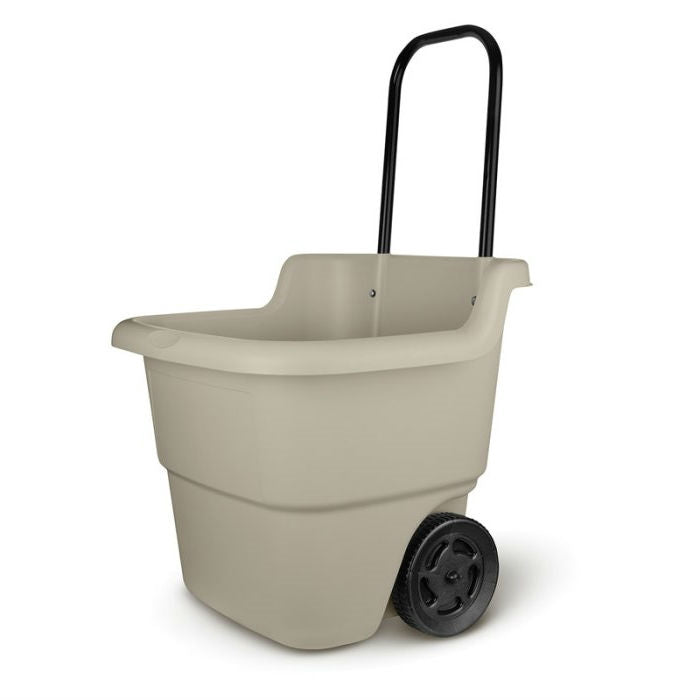 Sturdy Lawn Cart Mini Bucket 15 Gallon Wheelbarrow