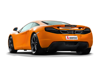 Akrapovic Titanium Slip-On Exhaust with Carbon Fiber Tips Mclaren MP4-12C 12-14