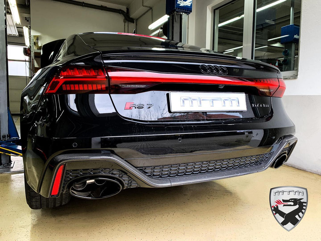 MTM Catback Exhaust for Audi RS6/RS7 (C8) tailpipe 2x oval black