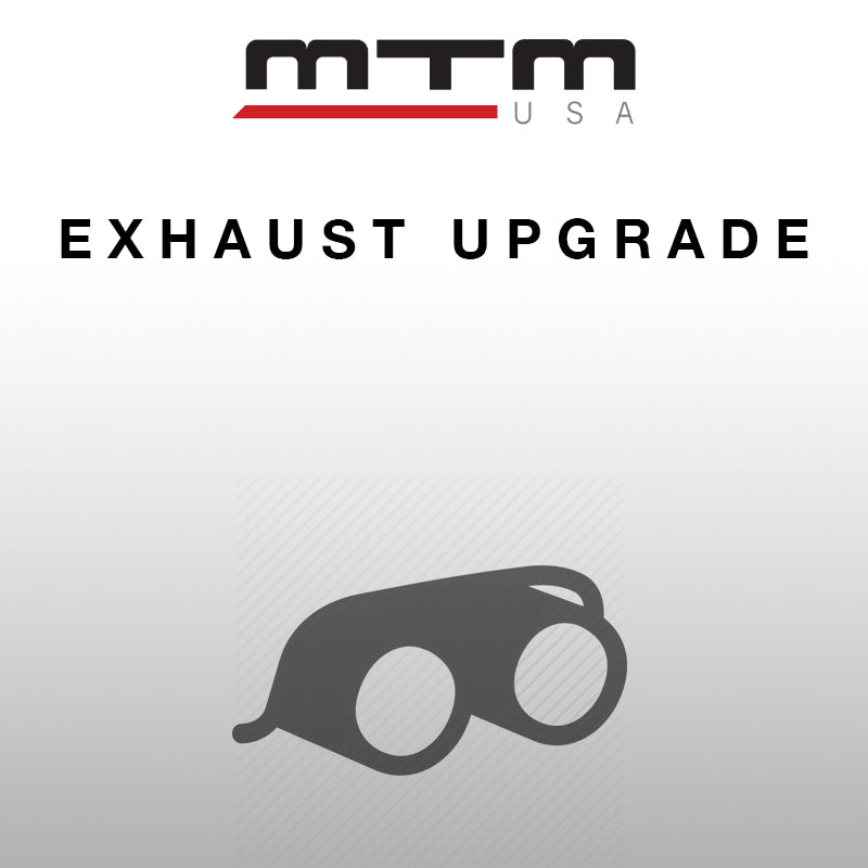 MTM EXHAUST PRE-SIL. BACK RS5 2-PIPE CHROME incl. middle and rear silencers with flaps