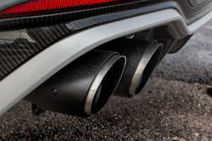 MTM EXHAUST PRE-SIL. BACK RS5 EXCLUSIVE CARBON 4-pipe (middle and rear silencers w. flaps)
