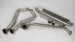 MTM rear silencer Porsche 718 S / 982 S w. valves  only for vehicles with PDK