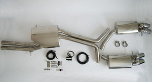 MTM EXHAUST SYSTEM AUDI S4 B8 3,0TFSI 4-PIPE with throttle valves in 2 pipes, control