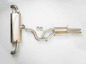 MTM exhaust system cat back TT-RS  Coupé with throttle valve without tailpipes