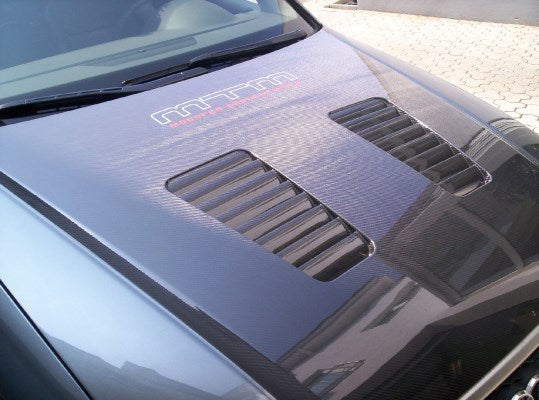 Front hood AUDI A4B7/S4/RS4 full visibility carbon incl. air outlet