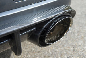 MTM EXHAUST SYSTEM FROM PRE-SILENCER AUDI S8 2-PIPE oval RS-Look with throttle valves S8 Facelift