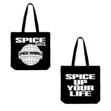 Load image into Gallery viewer, Spice Girls black tote bag