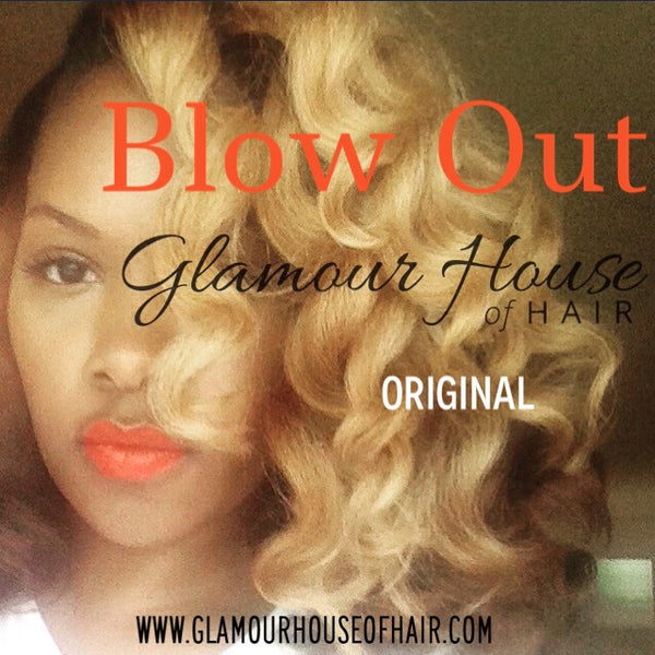 Blow Out 4C Textured Straight Hair Extensions