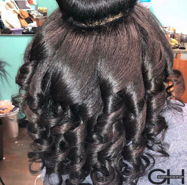 Blow Out 2.0 4C Textured Straight Hair Extensions - Glamour House Of Hair Extensions for African American Black Women For Sale
