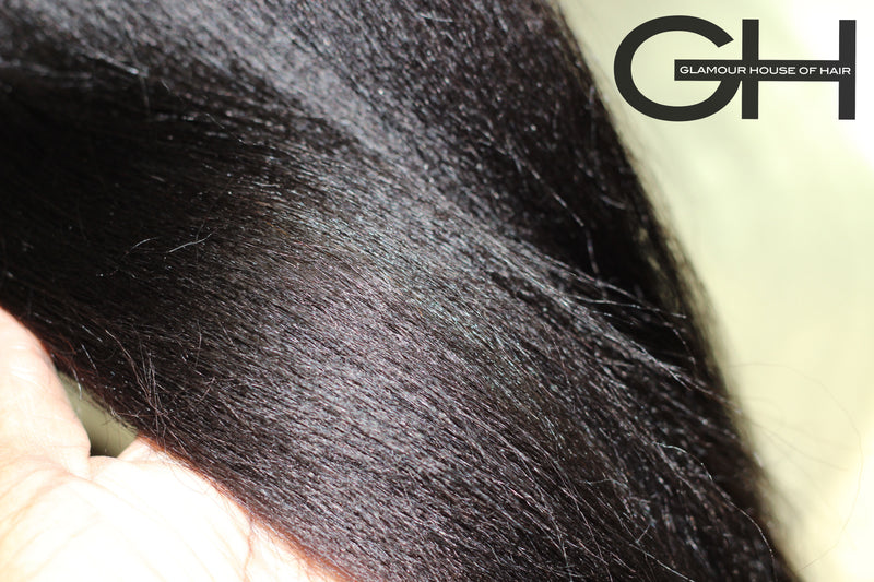 Silk Press - 4C Textured Straight Hair Extensions - Glamour House Of Hair