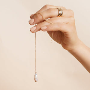 Gemma Pearl Drop Necklace