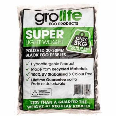 Image of Grolife Eco Pebbles - Black - Pallet (210)