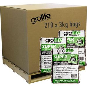 Grolife Eco Pebbles - Black - Pallet (210)