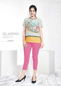 Grey Graphic Printed Crepe Top - Shopcept.com