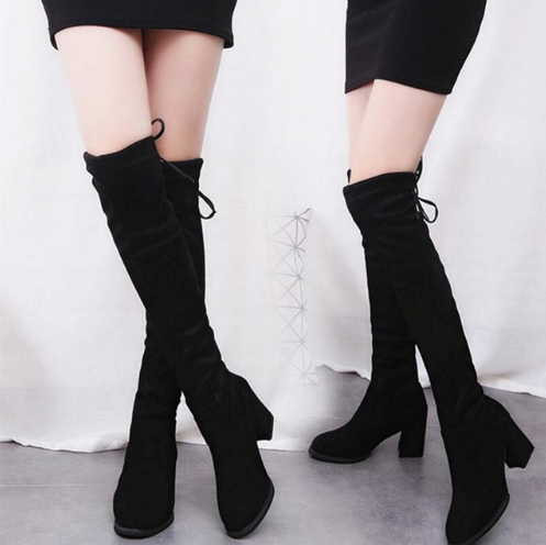 Knee High Streched Boots - Shopcept.com