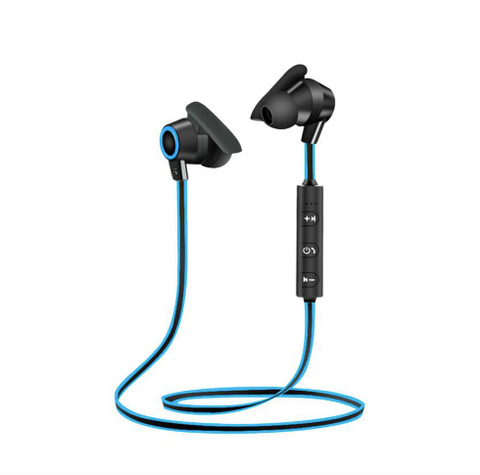 Sports Bluetooth Earphone Headphones Blue - Shopcept.com