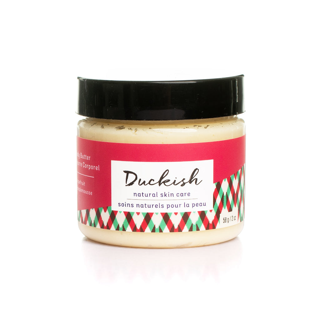Grapefruit Body Butter 2oz | Duckish Natural Skin Care