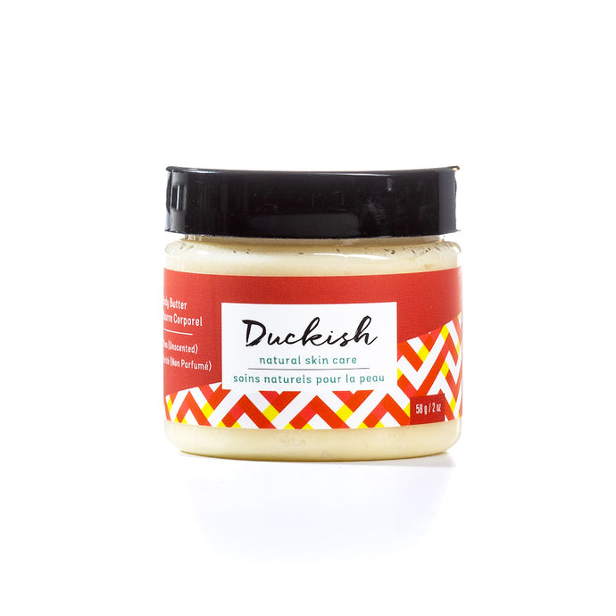 Shea (Unscented) Body Butter Cream 2oz | Duckish Natural Skin Care