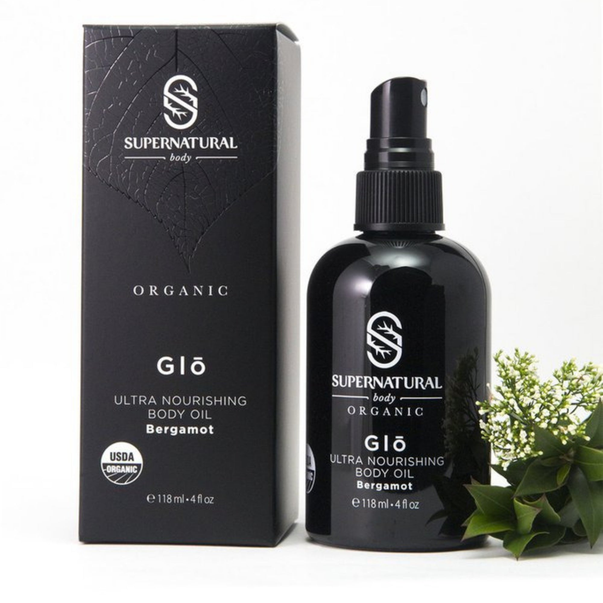 Glō Body Oil with Bergamot - 100% USDA Certified Organic