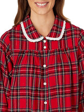 Load image into Gallery viewer, Lanz of Salzburg Red Plaid Flannel Nightgown - CdFAurora