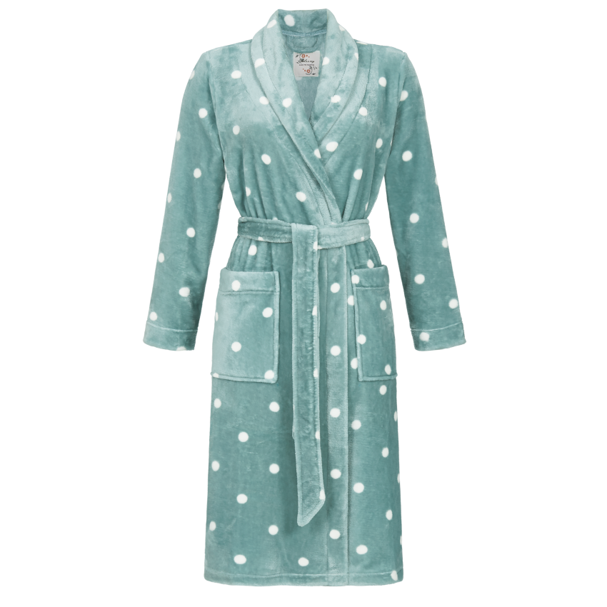 Ringella Polka Dot Fleece Robe