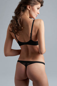 Dame de Paris Black Thong