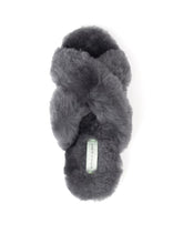 Load image into Gallery viewer, Patricia Green Mt. Hood Charcoal Shearling Slipper - CdFAurora