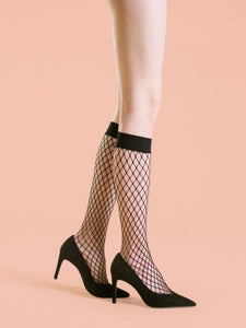 Fiore Cabarette Fishnet Knee Highs - CdFAurora
