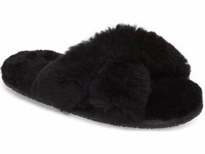 Patricia Green Mt. Hood Black Shearling Slipper - CdFAurora