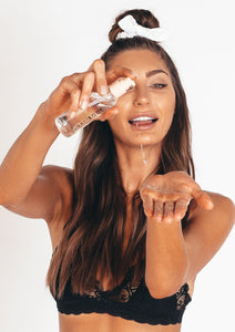Face tanning water