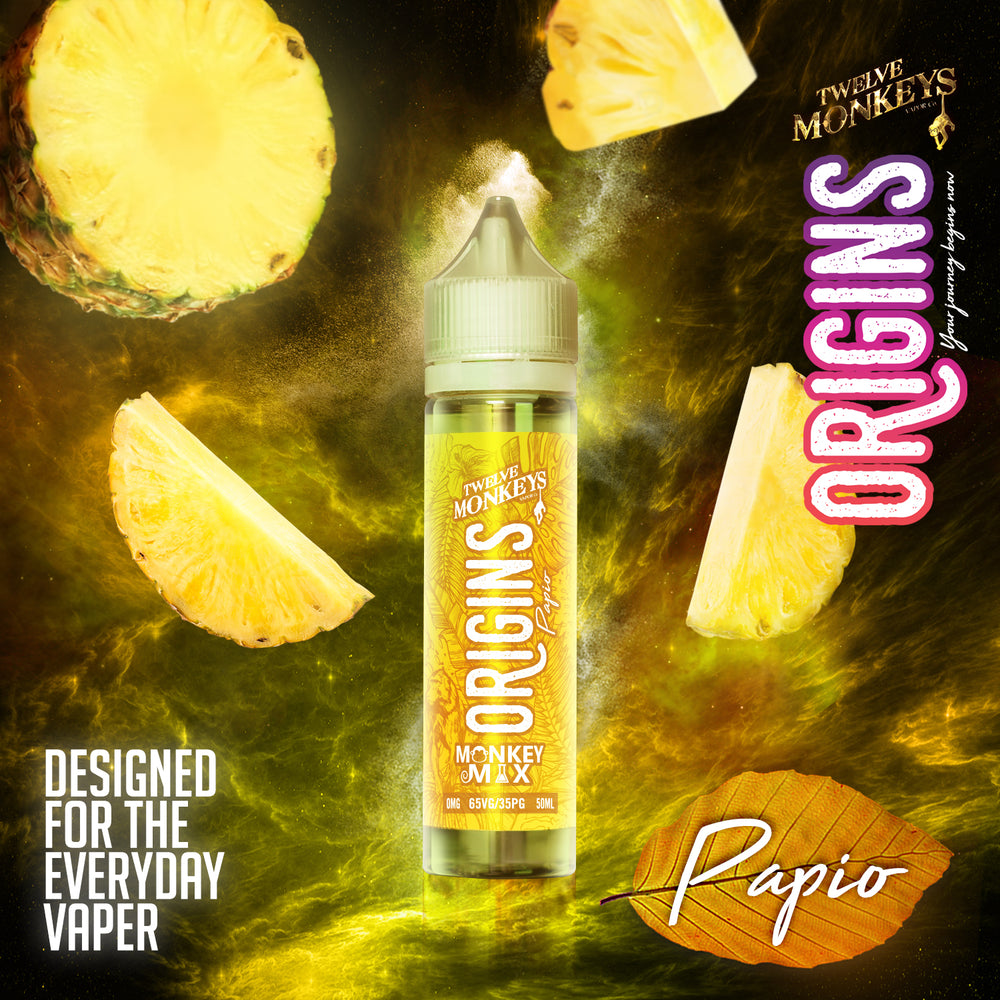 TWELVE MONKEYS ORIGINS - Papio Monkey ( 50ml | 0mg | Shortfill )