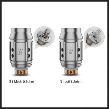 OBS Cube Mini Coils S1 Mesh - 5 Pack [0.6ohm]