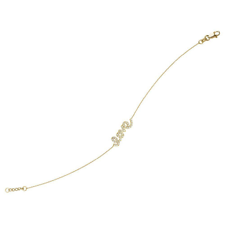14K Solid Yellow Gold CZ Stone