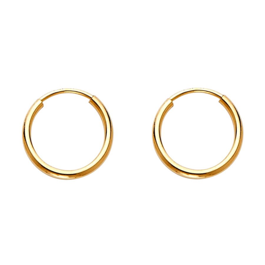 pure gold hoop earrings