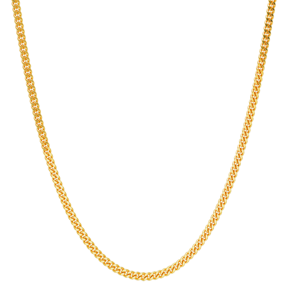 Cuban Curb Link Chain .9MM - 14K Solid Yellow Gold