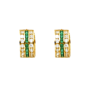 huggie earrings gold