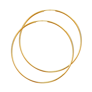 gold hoop earrings 14k
