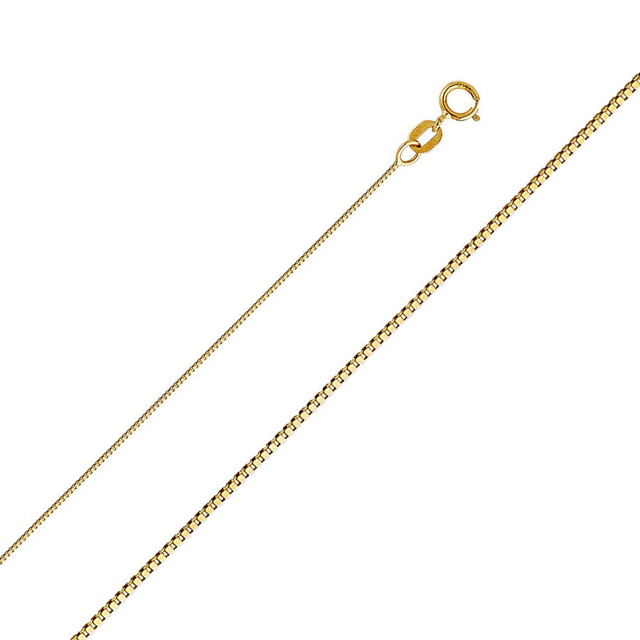Gold Box Chain 0.6MM - 14K Solid Yellow Gold