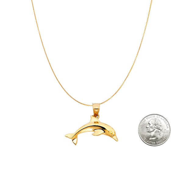 14K Yellow Gold Charm Pendant Necklace