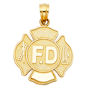 Fire Fighter Badge Gold