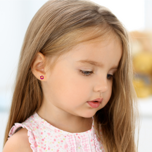 little girl earrings gold