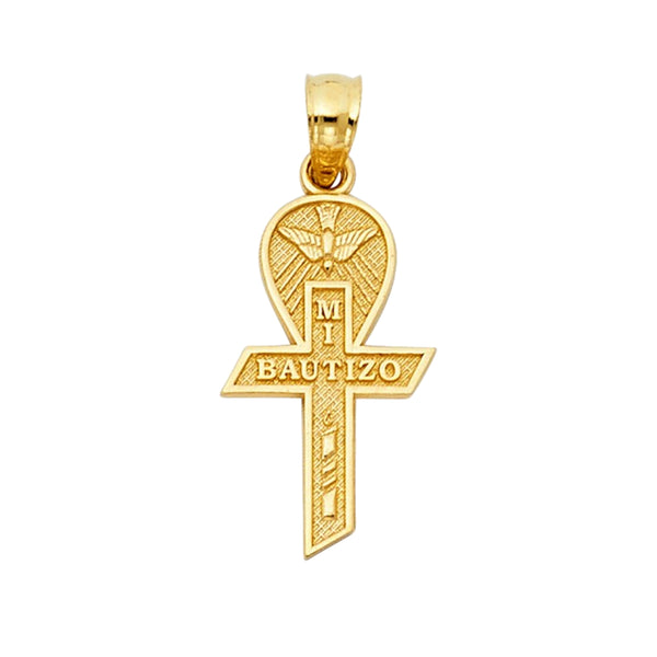 Gold Baptism Necklace For Kids 14K Gold