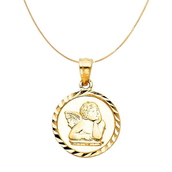 Gold Angel Pendant Necklace 14k Gold